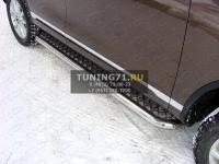 Volkswagen Touareg 2014 Пороги с площадкой 60,3 мм